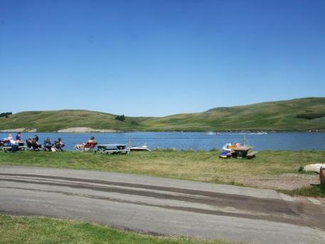 The 'beach' at Elkwater Lake